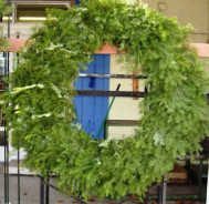 Fresh Plain Balsam Evergreen Wreath 48 Inch