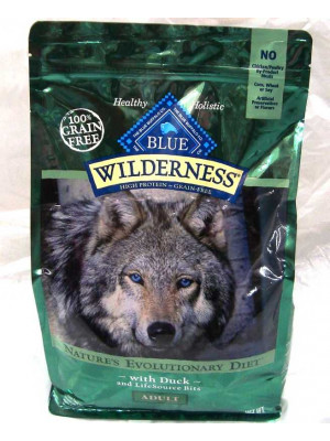 Blue Buffalo Wilderness Duck Dog Food 4.5 Lb.