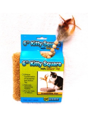 Kitty Square Feather Toy
