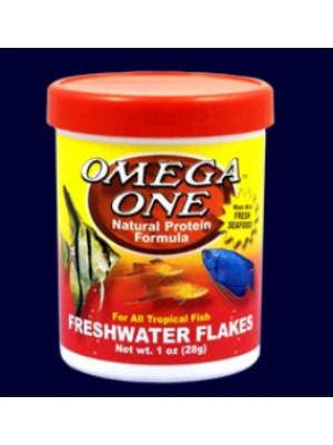 Omega One Freshwater Fish Food Flakes 2.2 Oz.