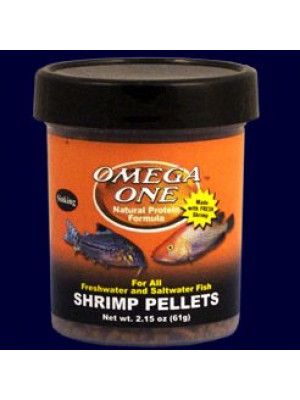 Omega One Shrimp Pellets 2.15 Oz.