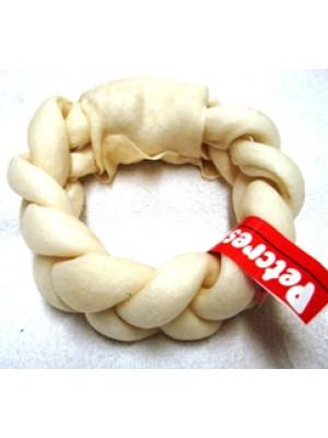 "Petcrest 6"" Rawhide Braided Donut Wreath"