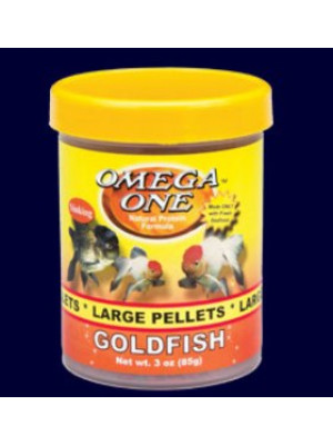 Omega Goldfish Pellet Fish Food 3.5 Oz.