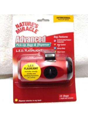Flashlight Pick Up Bag Dispenser