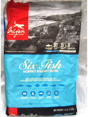 Orijen Six Fish Dog Food 13 Lb.