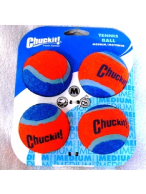 ChuckIt! Medium Tennis Ball Dog Toy 4 Pack