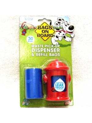 Bags On Board Dispenser & Refills 30 Bags