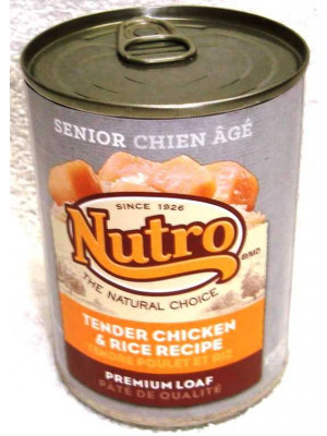 Nutro Dog Senior Tender Chicken & Rice 12.5oz Wet