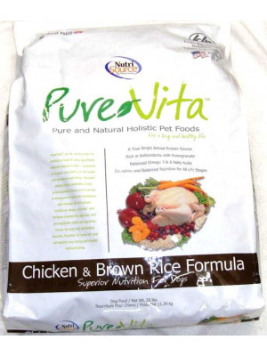 Pure Vita Chicken and Brown Rice Dog Food 25lb.