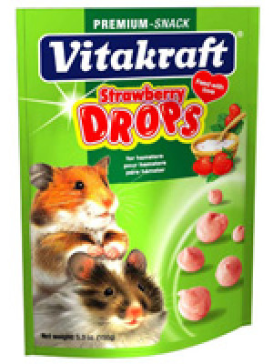 Vitakraft Strawberry Drops Hamster Treat