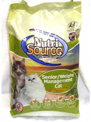 Nutri Source Cat Senior Weight Management 6.6#