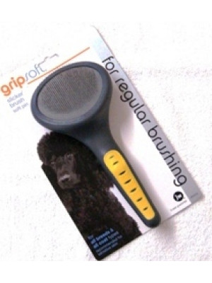 JW Grip Soft Slicker Brush Regular Sensitive Skin