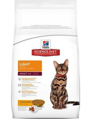 Science Diet Cat Adult Light Food 4 Lb.