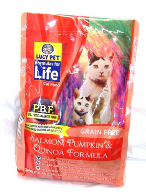 Lucy Salmon,Pumpkin Cat Food 4 Lb.