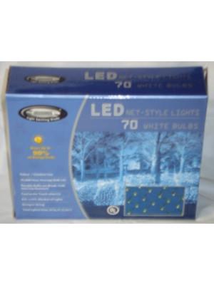 White LED Net Style Lights 70 Bulbs