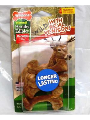Nylabone Venison Dog Treat Sm 4ct