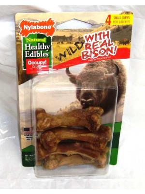 Nylabone Edible Bison Dog Treat Sm 4pk