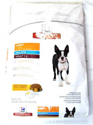 Science Diet Dog Adult Light Small Bite Dry 15 lb.