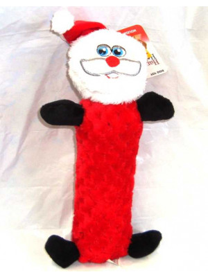 Santa Squeaker Dog Toy