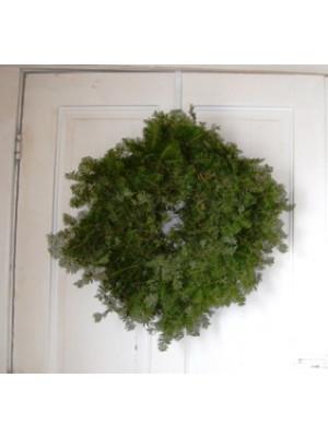 "Plain Fresh Balsam Evergreen Wreath 18"""