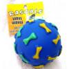 Vinyl Bone Print Ball Dog Toy