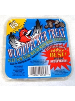 C & S Woodpecker Suet Treat 11 oz.