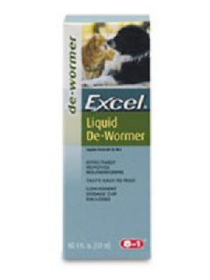 8 in 1 Excel Liquid De-Wormer For Cats And Dogs