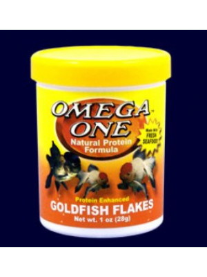Omega One Goldfish Food Flakes .42 Oz.