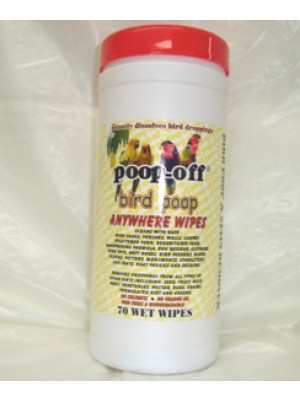 Poop-Off Bird Poop Anywhere Wipes