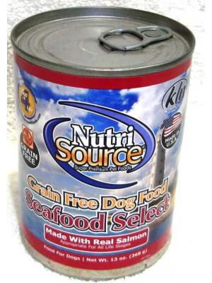 Nutri Source GF Seafood Select Salmon Wet Dog Food