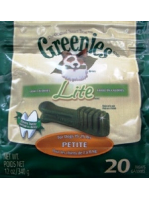 Greenies Lite Petite Treat 20 Pack 12 oz