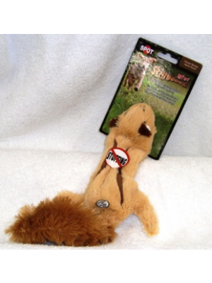 Mini Skinneeez Squirrel No Stuffing Dog Toy