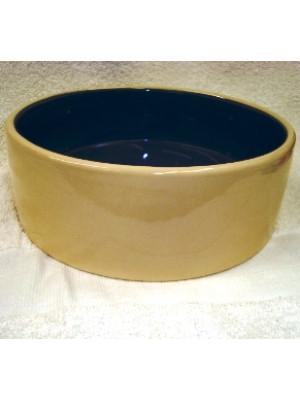 7.5 Inch Stoneware Crock Dog Dish