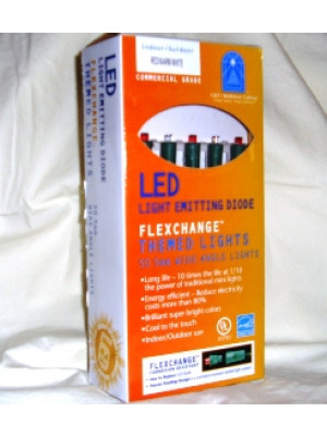LED Commercial 50 Red/White Bulbs