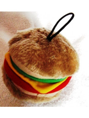 Hamburger Plush Dog Toy