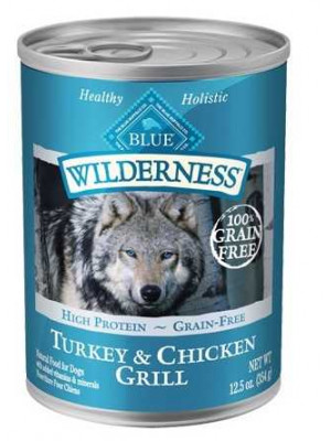 Blue Buffalo Turkey Chicken Grill Can Dog 12.5 oz.