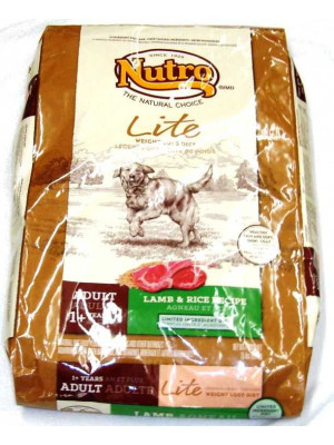 Nutro NC Lite Lamb/Rice Adult Dog Food 30 Lb.