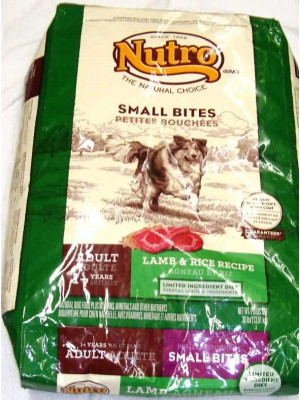 Nutro Small Bites Adult Dog Lamb/Rice Food 30#
