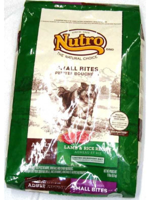 Nutro Sm Bite Lamb/Rice Dog Food 15 Lb