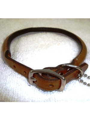 Petcrest Rolled Leather Dog Collar 10 Or 14 inch
