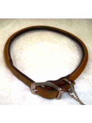 Rolled Leather Dog Collar 18 Or 20 Inch