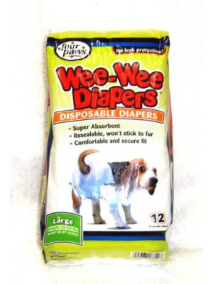 Wee Wee Dog Disposable Diapers Lrg
