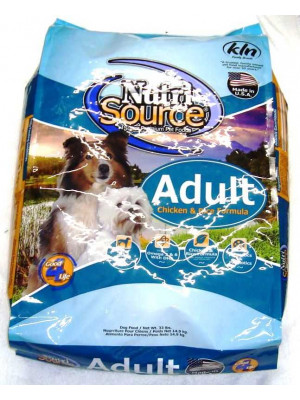 NutriSource Adult Chicken and Rice Dog Food 33lb.