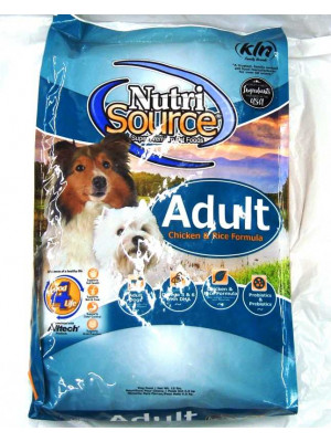 NutriSource Adult Chic/Rice Dog Food 15#