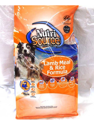 NutriSource Lamb & Rice Dog Food 5#