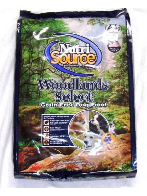 NutriSource Grain Free Woodlands Select Dog 15lbs.