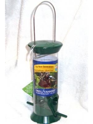 "Hanging Green 8"" Seed Birdfeeder"