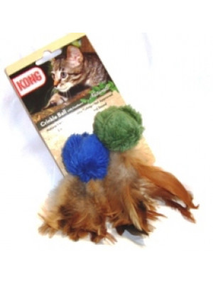 Kong Cat Crinkle Feather Ball