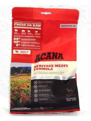 Acana Heritage Meats Dry Dog Food 12 Oz.