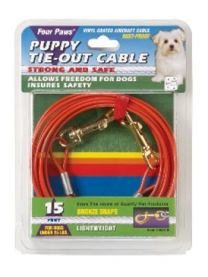 Four Paws 15' Puppy Tie Out Cable